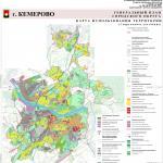 карта использования территории, генеральный план города Кемерово