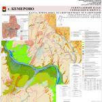 карта природных планировочных ограничений, генеральный план города Кемерово