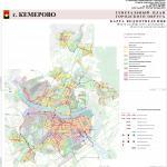 Карта водоотведения, генеральный план города Кемерово