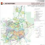 Карта энергоснабжения, генеральный план города Кемерово